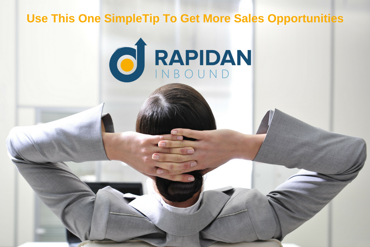1 simple tip to increase bottom-of-the-funnel sales opportunities